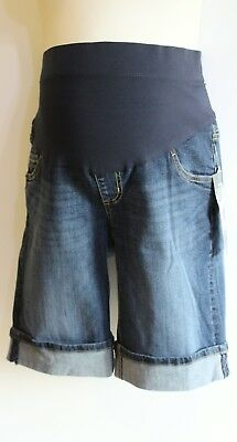 Oh Baby by Motherhood Maternity Denim Blue Jean Shorts Size M  NEW