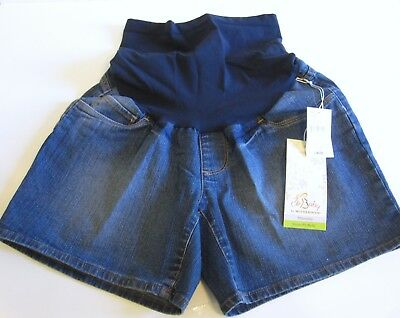 Oh Baby by Motherhood Maternity Shorts Size S Blue Jean 5 inch Inseam NEW