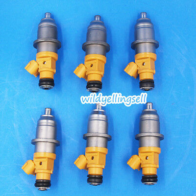 6x Fuel Injector For Yamaha 2003 HPDI 250 300HP 60V-13761-00-00 Outboard Genuine
