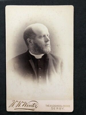 Victorian Photo: Cabinet Card: Winter: Derby: Gent: Clergyman Religious