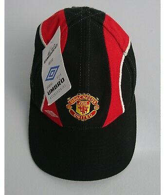 82b0d92fe0b2c6 MANCHESTER UNITED KIDS Youth Baseball Cap NEW MUFC Vintage Umbro Hat ...