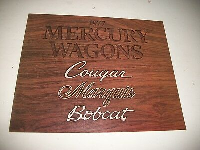 1977 Mercury Station Wagons Sales Brochure Catalog  Cougar Marquis Bobcat