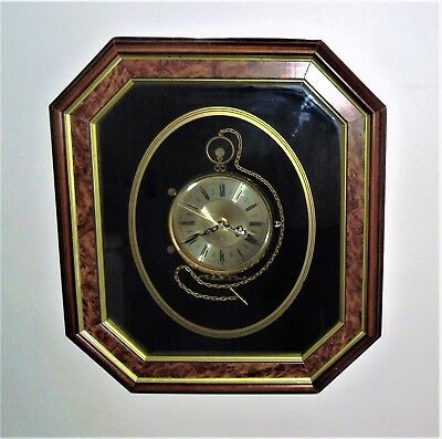 Ken Broadbent Wall Clock In The Form Of A Large Pocket Watch.
