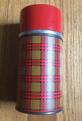 Vintage 70's Aladdin Picnic Red Plaid 10 oz Thermos Camping Stanley Lunchbox Fun