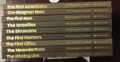 Lot of 9: THE EMERGENCE OF MAN, Time-Life Books, 1973