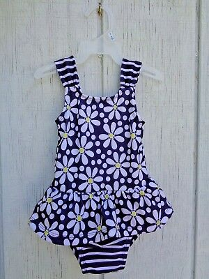 Gymboree Floral Swimming Suit Ruffle Baby Girls Size 18-24 M 18m 24m