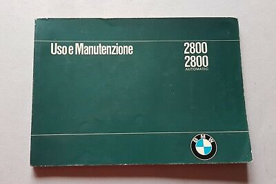 BMW 2800-2800 Automatic 1969 manuale uso originale FRANCESE owner's manual