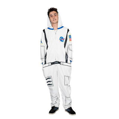 Adult Unisex Nasa Astronaut Costume Hooded Pajama Union Suit