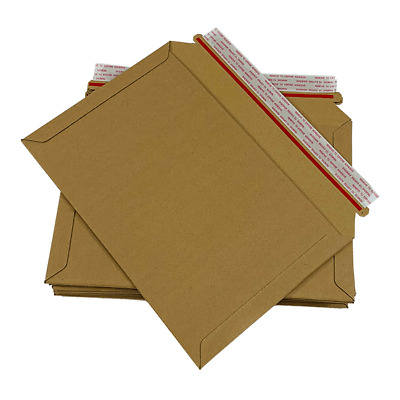 Board Backed Envelopes Cardboard Back Rigid Card Peel & Seal Do Not Bend Manilla
