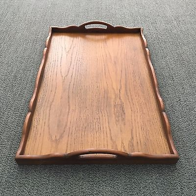 Old Large Solid Timber Serving Tray-Hotel Tea Breakfast Serving