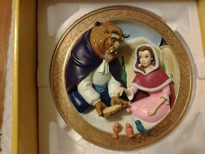 New! Beauty and the Beast Friends at Last 3- Collectors Plate# 54-5000 Very Rare