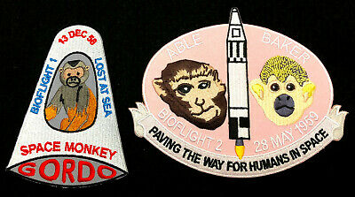 Space Monkey Gordo patch, astronaut Army NASA rocket Cape Canaveral