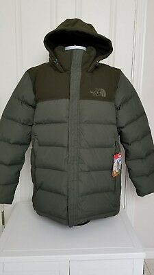 NWT THE NORTH Face Mens Nuptse Ridge Parka Hooded Puffer Down Green ... 2af270a13