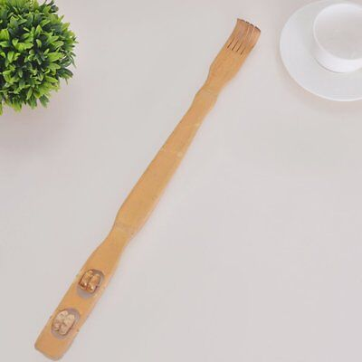 Long Reach Wooden Bamboo Scratch Back Scratcher Rack Body Massage Itchy F2