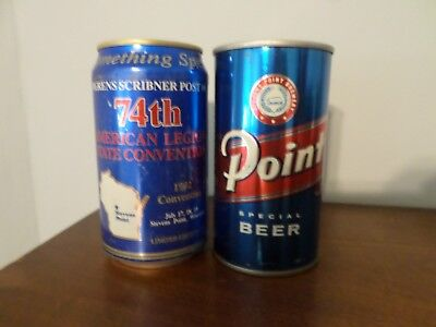 Beer Can Lot of 2 Diff Point Special 74th American Legion Convention &Steel