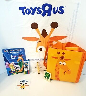 TOYS R US Geoffrey Tote Bag, Keychain, Coloring Book, Crayons ...