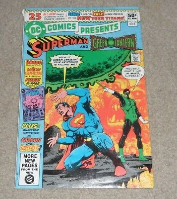 DC Comics presents Superman & Green Lantern #26 1st appearance New Teen Titans