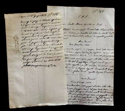 1800s TWO authentic handwritten and autographed documents
