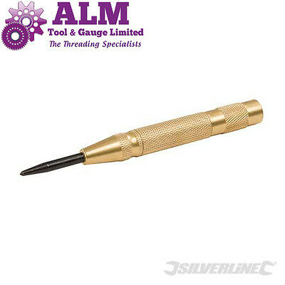 New Silverline Auto Centre Punch Brass 130mm