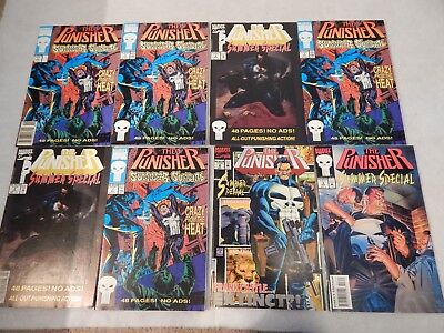 The Punisher Summer Special Lot Of 8 Marvel Modern Age Comic Book Lot VF