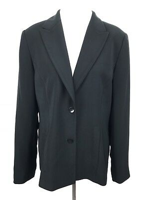8d0a03fb7 Caslon Blazer Suit Jacket Womens 12 Black 2 Button Career Work Pockets Lined