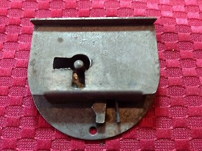 1 Half Mortise Drawer or Right Hand Door Lock Antique Vtg