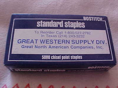 """Staples 3 Boxes 1/4"""" CP Chisel Point Standard 5000 per Box Bostitch NEW"""