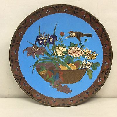 "Japanese Cloisonne Charger 12"" Diameter"