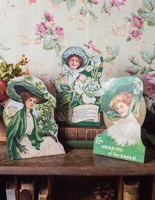 Victorian Trading Co Fair Lassies St Patrick's Day Easel Set