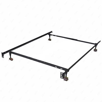 ADJUSTABLE METAL BED Frame Twin Full Queen Size Heavy Duty with ...