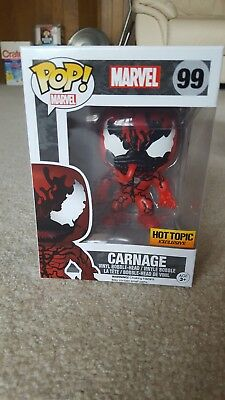 NEW Funko Pop! Marvel Venom Comic # 99 - CARNAGE - Hot Topic Exclusive