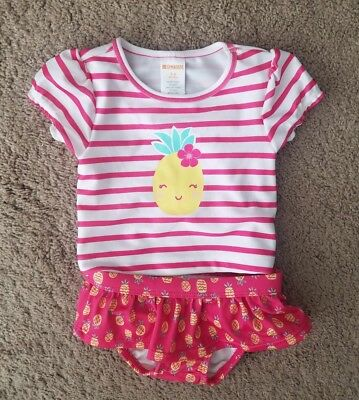 Gymboree Pineapple Swimsuit Baby Girl 3-6 Months NWT