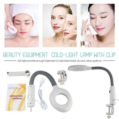 Beauty Magnifying Lamp Cold-light Lamp With Clip USB for Tattoo Eyebrow Salon AU