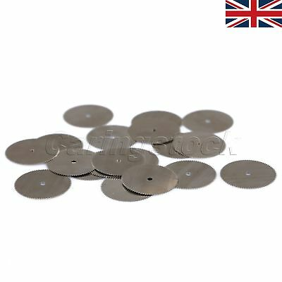UK 20pcs 25mm Steel Wood Saw Discs Cutting Off Blade Wheel For Power Rotary Tool