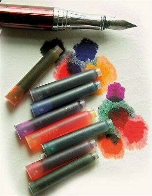 Victorian Trading Co Rainbow Ink Fountain Pen Ink Refill Cartridges (8)
