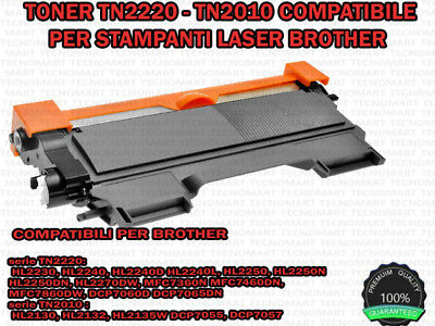 Toner Tn2010 Per Brother Hl2130 Mfc7360  Hl2240 Hl2135 Dcp7055 Dcp7057 Mfc7460