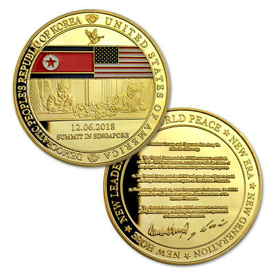 Donald Trump and Kim Jong Un's Four Major Commitments Challenge Coin