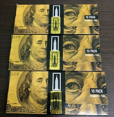 Empire Benjamin Rolling Papers (3 Wallets x 10) $100 Dollar Bill + Filter Tips
