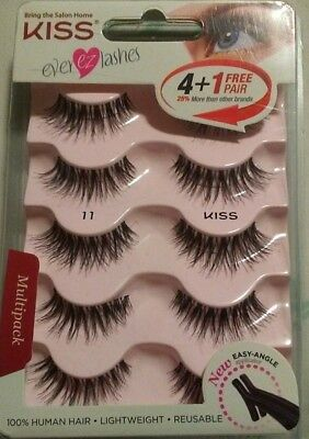 288e7b4aaae 1 New KISS Ever Ez Lashes 11~ Eyelashes & Adhesives Lashes 5 Pairs~FAST
