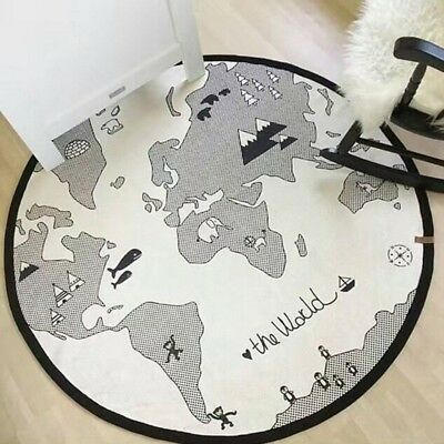 Baby Crawling Mat Game Playing Soft Rug Bedroom Earth Printing Toddler Carpet