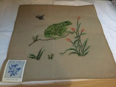 """VINTAGE LUXURY MADEIRA PREWORKED NEEDLEPOINT TAPESTRY 20 X 20"""" Inches To Finish"""