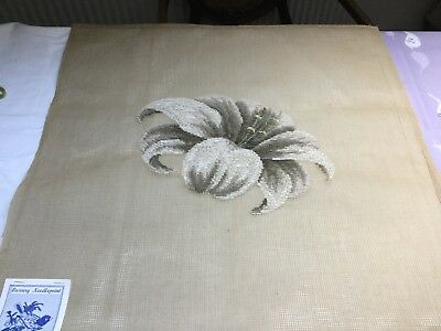 """VINTAGE Luxury Needlepoint MADEIRA TAPESTRY 24 X 24"""" Inches To Finish"""