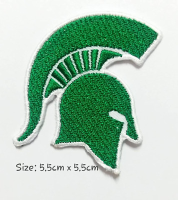 Michigan state Spartans Sport Logo  Patches Embroider Iron on, Sew on Clothes