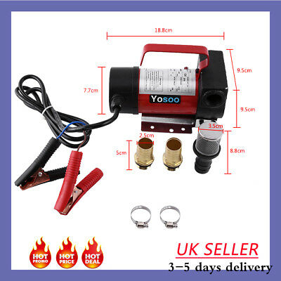 Portable 12V Diesel Fluid Extractor Electric Transfer Pump Car Fuel Suction 60W