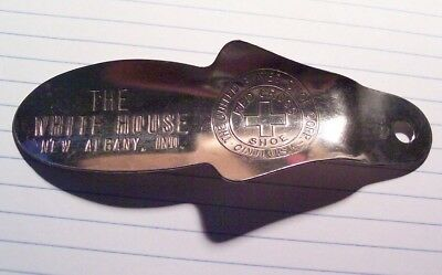 "Vintage ""The White House"" New Albany,Indiana Advertisement Shoe Horn"