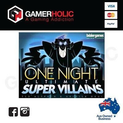 One Night Ultimate Super Villains Board Game Brand New