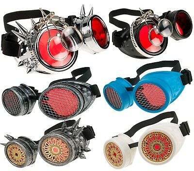 Welding Cyber Goggles Goth Steampunk Cosplay Goth Antique Victorian Spikes Loupe