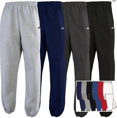 299075a4b5ed Russell Adult Mens No Pocket NuBlend DriPower Closed Bottom Sweatpants