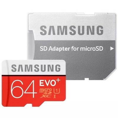 Genuine Samsung 64GB MICRO SD MEMORY CARD EVO PLUS SDXC Class10 Smartphone ONLY