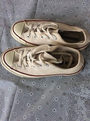 Converse All Stars White Canvas Laceup Sneakers Made In Vietnam-Men 3 Women 5